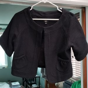 Mossimo black crop evening jacket